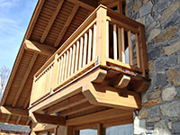 Balcony in Douglas fir