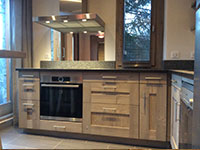 Kitchen in brushed and stained fir